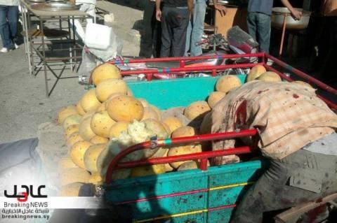 Εικόνες φρίκης στη Συρία – Τρομοκρατική επίθεση σε λαϊκή αγορά