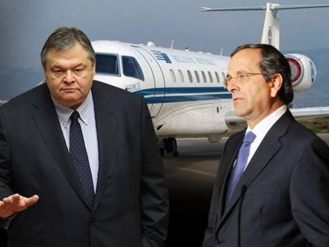 Ο Βενιζέλος, το πρωθυπουργικό αεροσκάφος και οι γκρίνιες των γαλάζιων