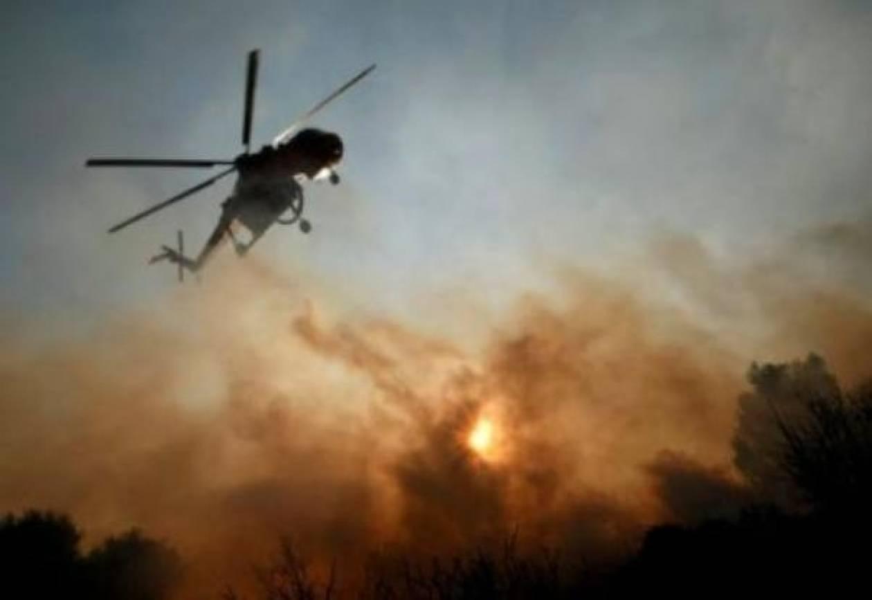 Σε εξέλιξη πυρκαγιά στο Μαρκόπουλο Ωρωπού