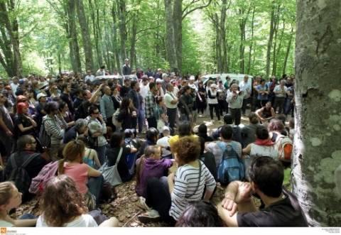 Πορεία για τα μεταλλεία Χρυσού στις Σκουριές Χαλκιδικής