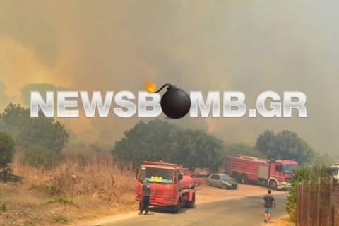 Καταγγελία: Από τροχαίο ξεκίνησε πυρκαγιά στον Μαραθώνα