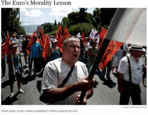 NY Times:Το μάθημα ηθικής της ευρω-κρίσης και ο ρόλος Μητσοτάκη