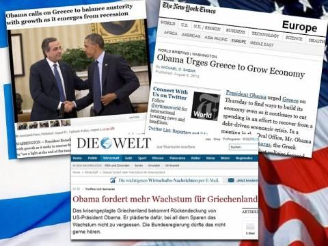 Τι έγραψαν τα διεθνή ΜΜΕ για τη συνάντηση Ομπάμα-Σαμαρά