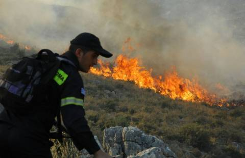 Στις «φλόγες» η Εύβοια: Μεγάλες πυρκαγιές σε Παρθένι και Στύρα