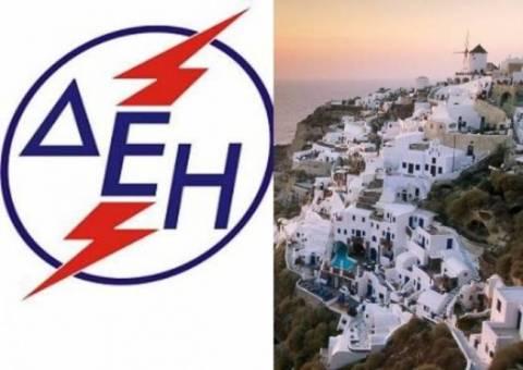ΔΕΗ: Πρόοδος εργασιών αποκατάστασης ηλεκτροδότησης στη Θήρα