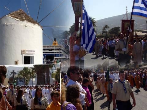 Με λαμπρότητα ο εορτασμός της Κοίμησης της Θεοτόκου στην Πάρο (vid)