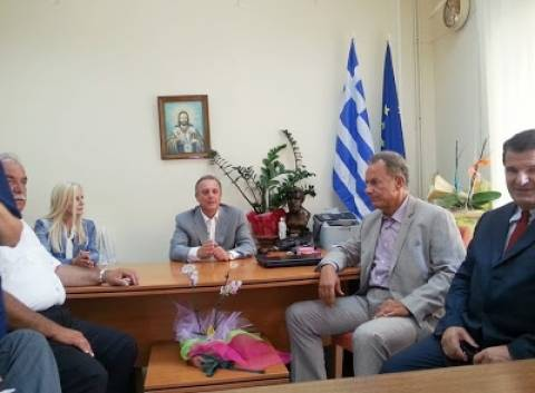 Επίσκεψη του Αντώνη Μπέζα στο Γενικό Νοσοκομείο Λευκάδας