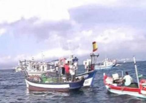 Διαμαρτυρία Ισπανών ψαράδων για τεχνητό βρετανικό ύφαλο
