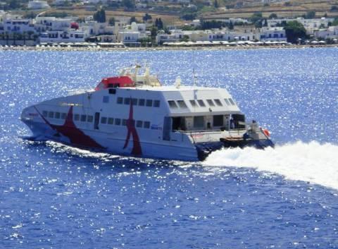 Ταλαιπωρία για τους επιβάτες του «Sea Jet 2» στην Αμοργό