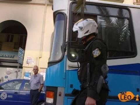 Άγνωστοι προκάλεσαν φθορές σε λεωφορείο του ΟΑΣΘ