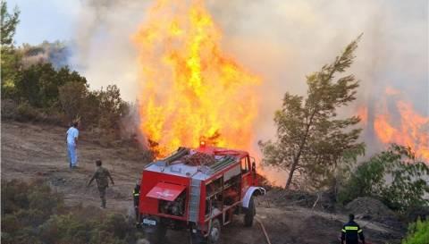 Συνεχώς ενισχύονται οι δυνάμεις στον Παρνασσό-Μαίνεται η πυρκαγιά