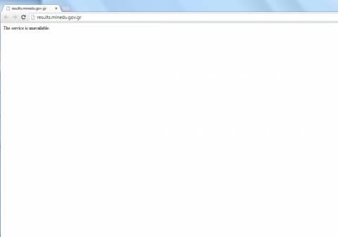 Βάσεις 2013: «Έπεσε» η ιστοσελίδα του υπουργείου με τα αποτελέσματα