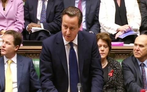 Ο Κάμερον θα σεβαστεί την απόφαση του κοινοβουλίου της Βρετανίας