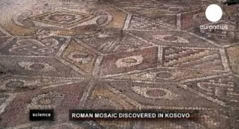 Στο φως εντυπωσιακά ρωμαϊκά ψηφιδωτά στο Κόσοβο (video)