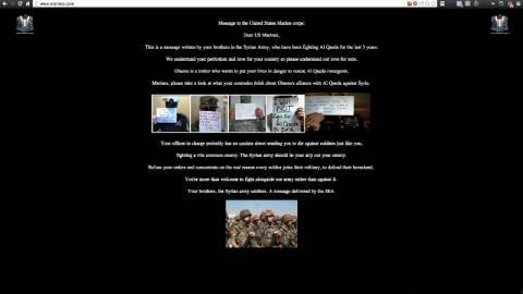 Ο Ηλεκτρονικός Στρατός της Συρίας μπήκε στην ιστοσελίδα των πεζοναυτών