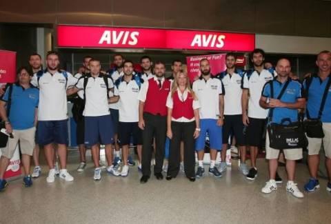 Συνάντηση με την Εθνική Μπάσκετ πριν την αναχώρηση για το Eurobasket
