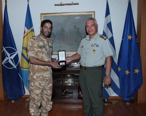 Αντιπροσωπεία αξιωματικών του Κατάρ στο ΓΕΕΘΑ