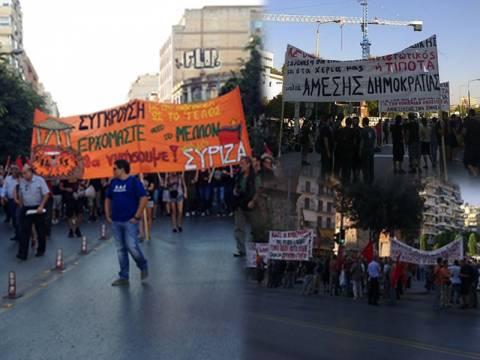 Σε εξέλιξη τα συλλαλητήρια στην Θεσσαλονίκη