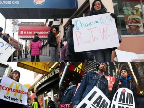 Χιλιάδες υπάλληλοι fast food βγήκαν στους δρόμους στις ΗΠΑ
