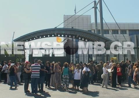 Συγκέντρωση διαμαρτυρίας καθηγητών στο υπ. Παιδείας (pics-vid)