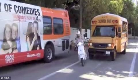 Βίντεο-ΣΟΚ: Γλύτωσε από θαύμα το ατύχημα η Γκουίνεθ Πάλτροου!
