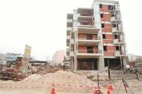 Κάμψη 15,2% εμφάνισε ο όγκος της ιδιωτικής οικοδομικής δραστηριότητας