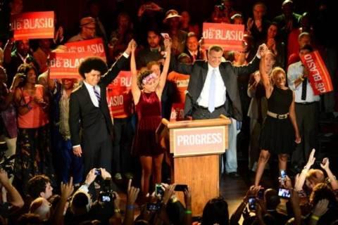 Νέα Υόρκη: Ο Μπιλ ντε Μπλάζιο ο υποψήφιος των Δημοκρατικών