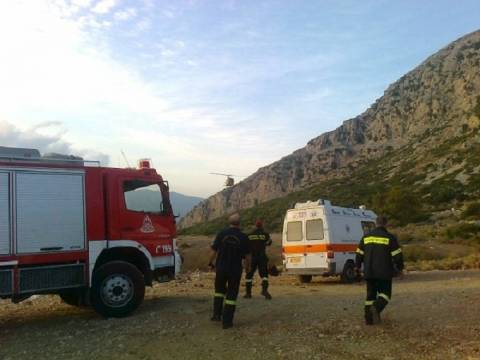 Επιχείρηση διάσωσης αλεξιπτωτιστή στο Μεσολόγγι