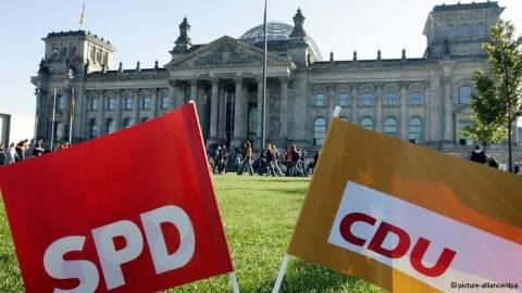Δημοσκόπηση: «Μεγάλο συνασπισμό» θέλουν οι Γερμανοί
