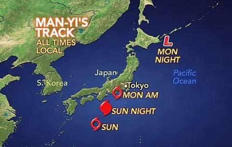 Συναγερμός στην Φουκουσίμα από το πέρασμα του τυφώνα Μαν–γι