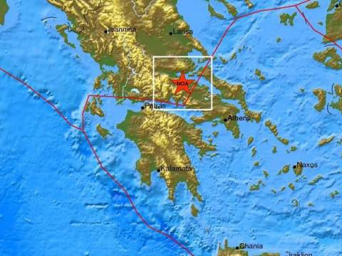 Ισχυρός σεισμός αισθητός στην Αθήνα