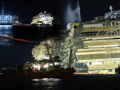 Costa Concordia: Ένα πλοίο-φάντασμα στο λιμάνι του Τζίλιο