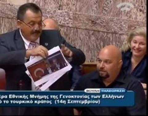 Ενός λεπτού σιγή στη Βουλή για την Μ. Ασία-Επεισόδιο με τη Χρυσή Αυγή