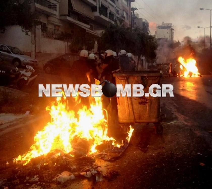 Επεισόδια στις διαδηλώσεις για τη δολοφονία του Παύλου Φύσσα