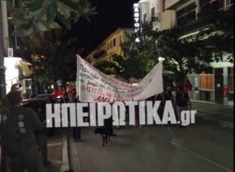 Ιωάννινα: Μαζική συμμετοχή στο αντιφασιστικό συλλαλητήριο