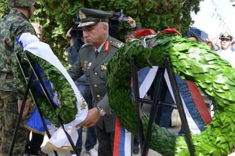 Κατάθεση Στεφάνου από τον Α/ΓΕΕΘΑ στο Σερβο-Ελληνικό νεκροταφείο