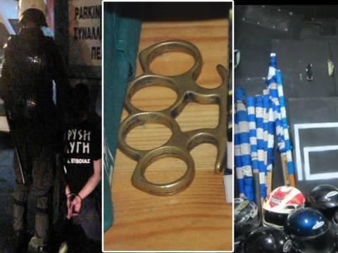 Φωτογραφίες και βίντεο της ΕΛ.ΑΣ. από τις συλλήψεις των 8 Χρυσαυγιτών
