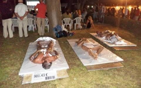 Θεσσαλονίκη: Γυμνή διαμαρτυρία χορτοφάγων (pics)