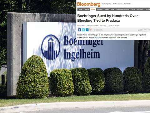 Boehringer Ingelheim: Αγωγές για φερόμενο ως επικίνδυνο αντιπηκτικό