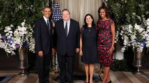 Το ζεύγος Βενιζέλου φωτογραφίζεται με το ζεύγος Ομπάμα