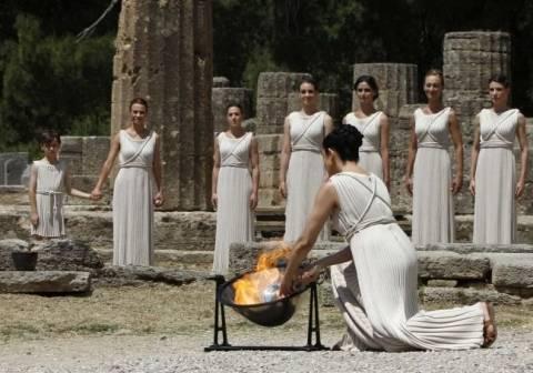 Υποδοχή της Ολυμπιακής Φλόγας στην Πάτρα