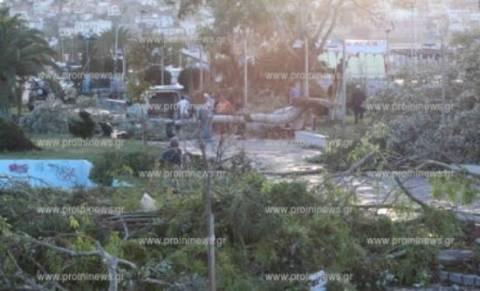Καβάλα: Το πρώτο φως της ημέρας έδειξε την καταστροφή