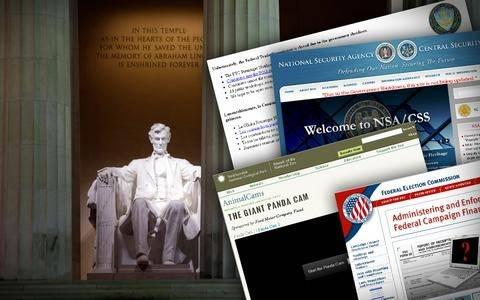 ΗΠΑ: Μαύρο και σε κρατικές ιστοσελίδες