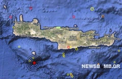 Σεισμός 3,2 Ρίχτερ νότια της Γαύδου