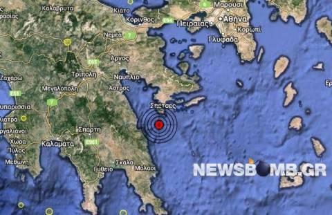 Σεισμός 3,2 Ρίχτερ νότια των Σπετσών