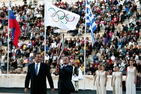 Στη Μόσχα η Ολυμπιακή φλόγα