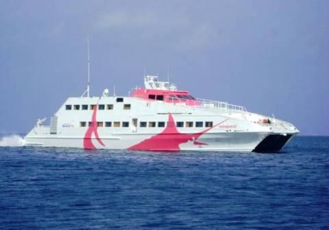 Αδυναμία προσέγγισης καταμαράν στο λιμάνι της Φολεγάνδρου