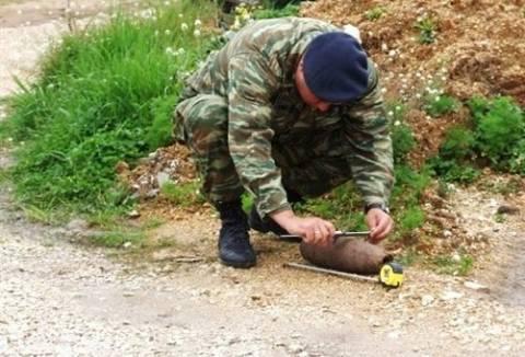 Ανακάλυψαν πολεμικό υλικό σε πεζοδρόμιο της λεωφόρου Θηβών!
