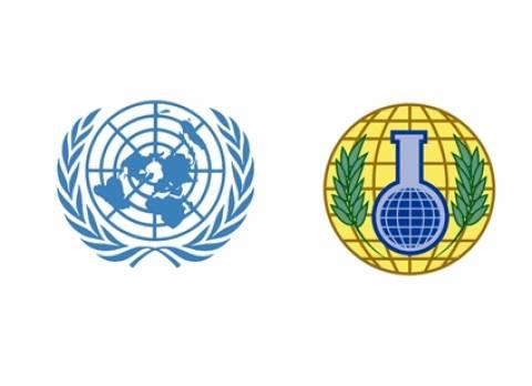 Συνεργασία ΟΗΕ και OPCW για την καταστροφή των χημικών στη Συρία