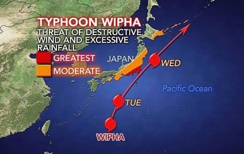 Ισχυρός τυφώνας «πέρασε» από το Τόκιο και απειλεί την Φουκουσίμα